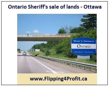 Ontario Sheriff's sale of lands - Ottawa