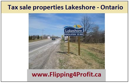 Tax sale properties Lakeshore - Ontario